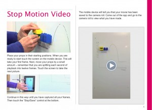 stop-motion, ibook, National science learning centre, moving media ltd
